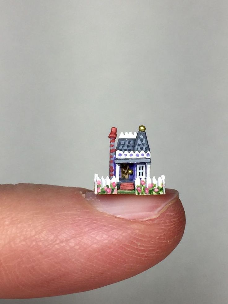 OOAK Micro Miniature Dollhouse Handcrafted Victorian Doll House by Holly Allen | eBay