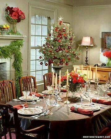 42 Best Christmas Formal Dining Rooms Images On Pinterest Christmas Tablesc