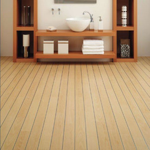 Attractive Bamboo Flooring In Modern Minimalist Bathroom Design