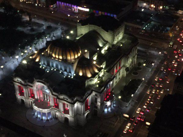Palacio de Bellas Artes desde la Torre Latinoamericana