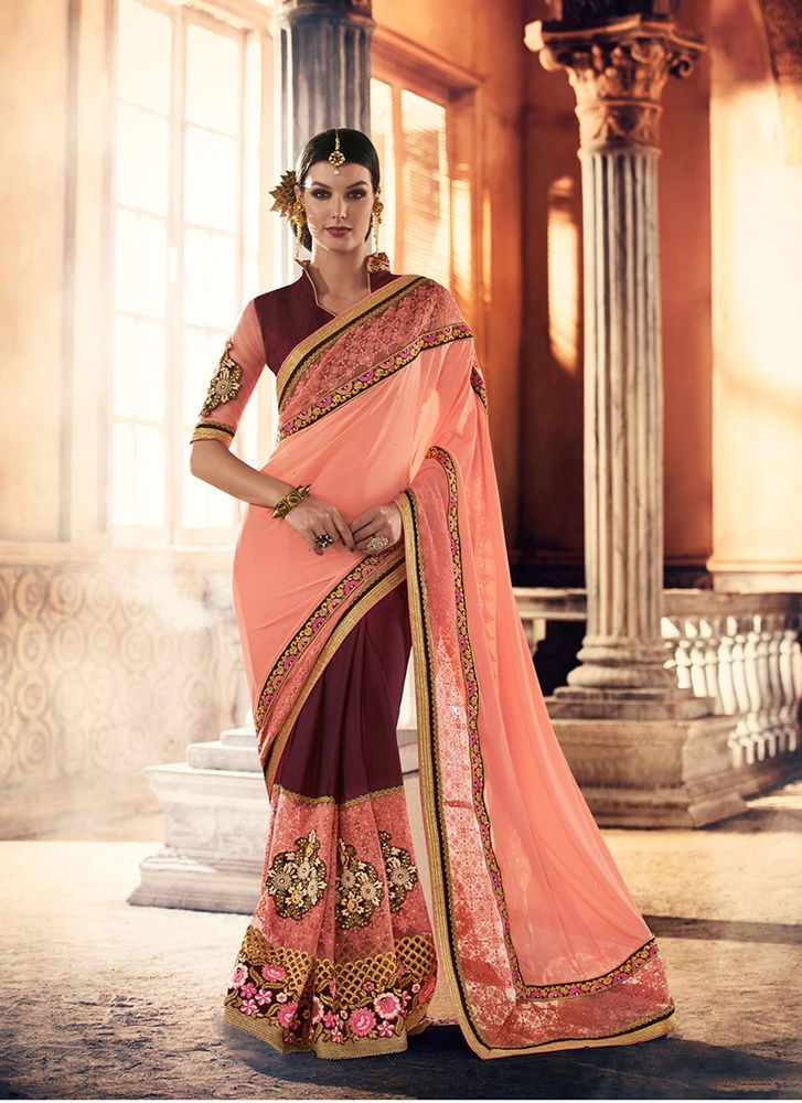 Designer Partywear Sari Pakistani Bollywood Indian Dress Ethnic Wedding Saree #kriyacreation #DesignerSaree