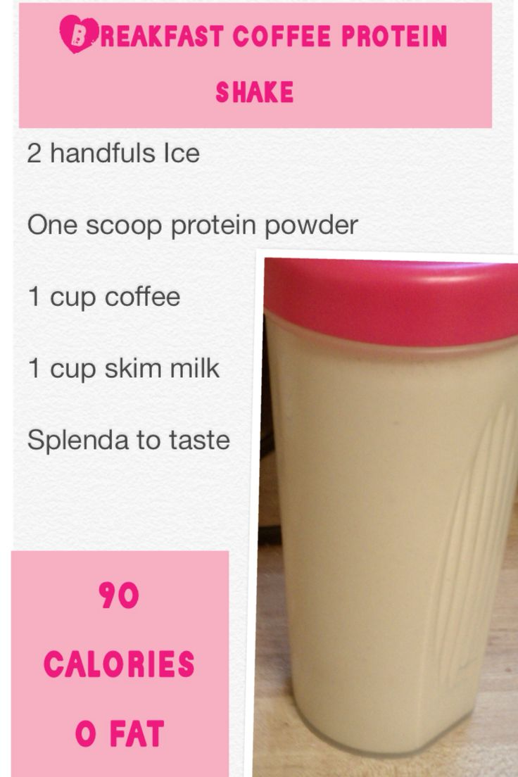 Breakfast coffee protein shake. I love this! It's so delicious and so good for you. And the caffeine boosts weight loss. MAKES TWO SERVINGS