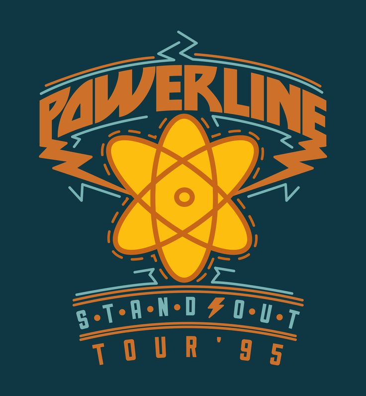 POWERLINE CONCERT SHIRT FROM A GOOFY MOVIE.