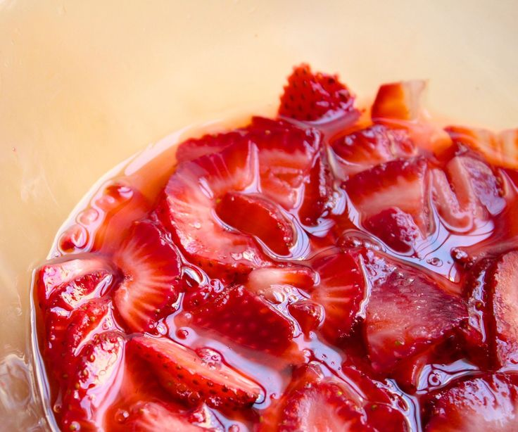 If there's one technique you need to learn for delicious desserts, it's how to macerate strawberries!Maceration is one of the handiest and simplest techniques to bring our the flavor and color of slightly underripe strawberries. Plus, they release enough juice to make the best strawberry sauce ever.