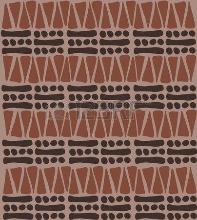 Tribal africain modèle doodle - texture arrière-plan simple