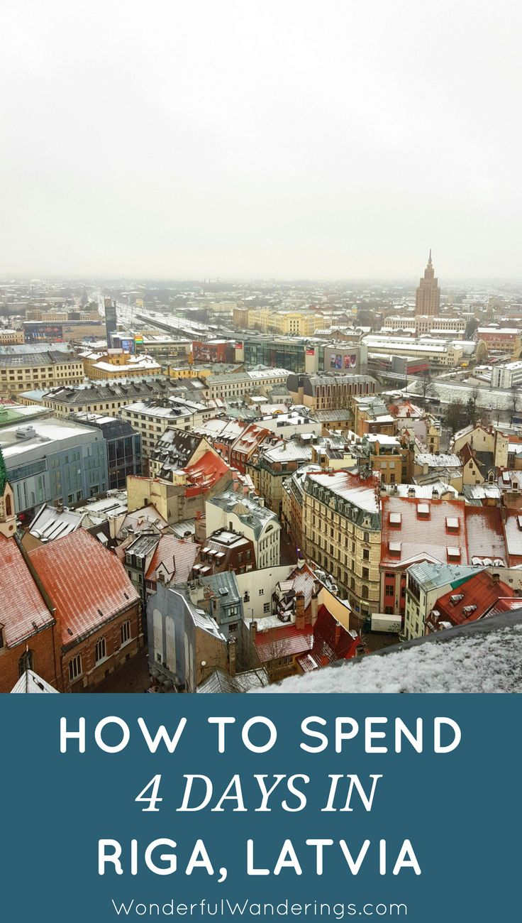 A list of 4 days of things to do in Riga, Latvia for when you travel there in winter, including the shopping streets, restaurants, cute cafes, a walk around the Old Town and the Christmas markets.