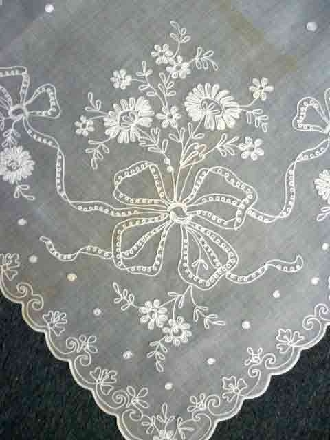 Vintage SWISS TAMBOUR Lace Curtains