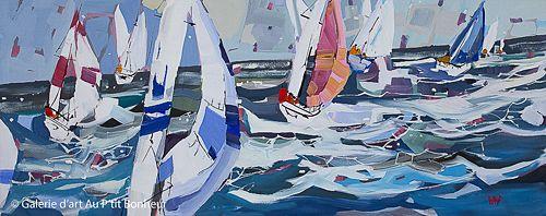 Rick Bond, 'Seawinds', 24'' x 60'' | Galerie d'art - Au P'tit Bonheur - Art Gallery