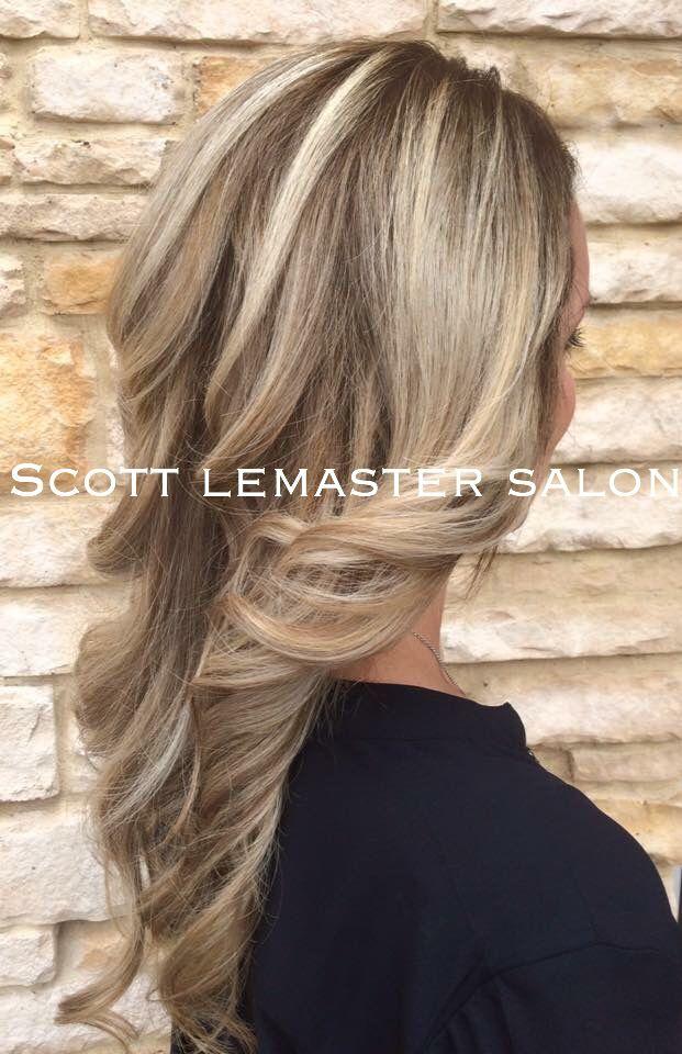 Traditional Full Highlight Lowlight. Hair by Kendra at Scott Lemaster Salon & Spa.