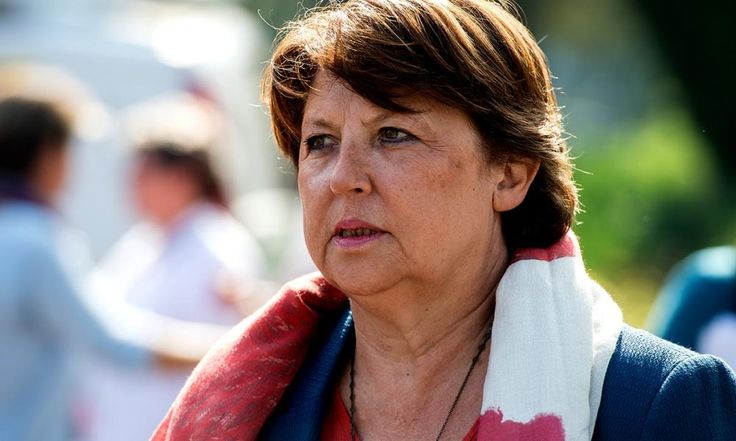 Lille mayor Martine Aubry attends a general meeting of the Socialist party's northern federation in Lomme, northern France, on September 13, 2014. AFP PHOTO / PHILIPPE HUGUEN PHILILPPE HUGUEN / AFP