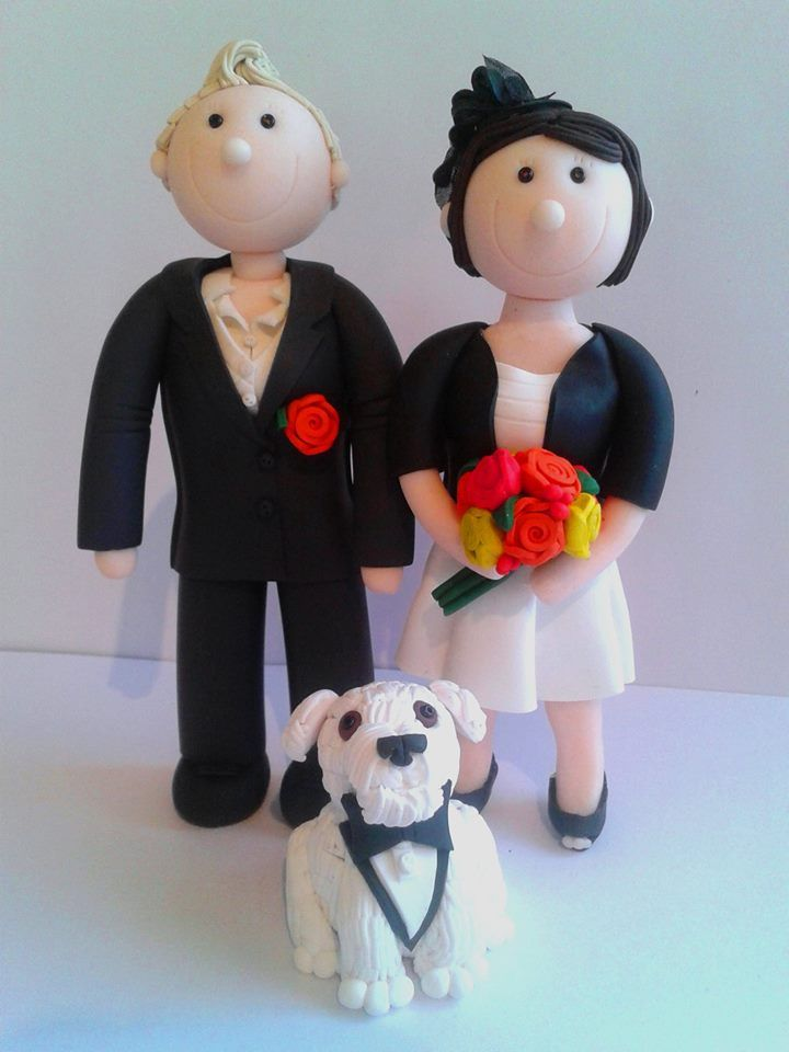 Fully personalised civil ceremony / Wedding cake toppers. Handcrafted from polymer clay