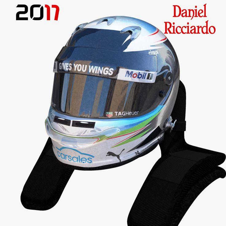 Ricciardo Helmet 2017 3D Model #AD ,#helmet#Ricciardo