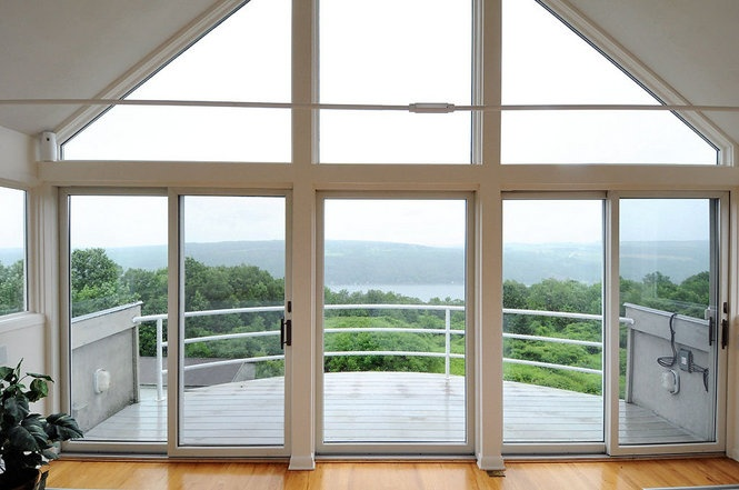 3rd floor mezzanine overlooking Otisco Lake at 1556 Willowdale Rd, Spafford, NY