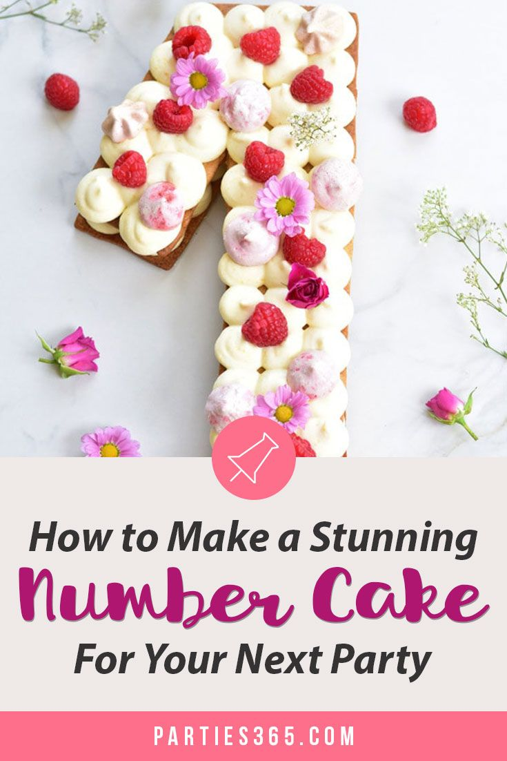 How To Make A Stunning Number Cake For Your Next Party Parties365 Number Cakes Number Birthday Cakes Cake Frosting Recipe