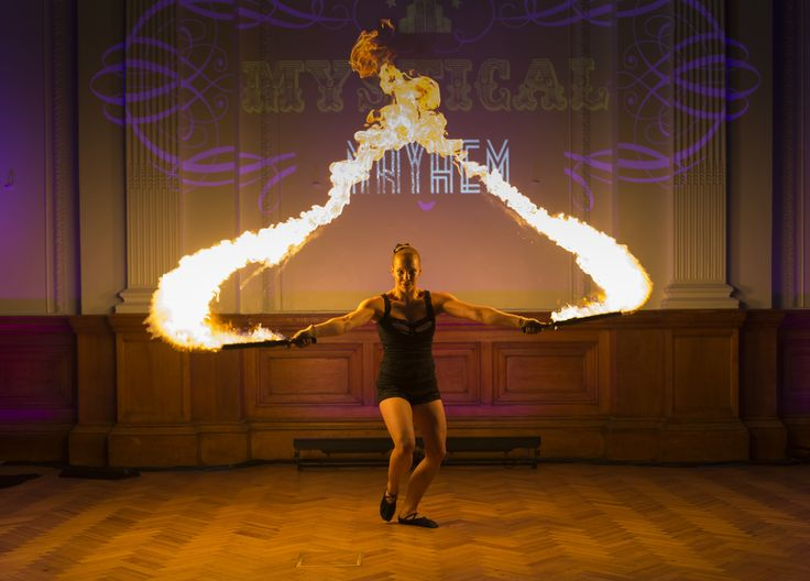 Fire Artist at a reception at the Lindley Hall