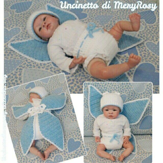 Butterfly dress crochet for reborn doll #vestito #vestitino #dress #handmade #fattoamano #diy #doll #dolls #bambola #bambole #reborn #crochet #crocheted #farfalla #butterfly  #uncinetto