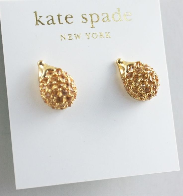 Kate Spade Into The Woods Hedgehog Studs | eBay