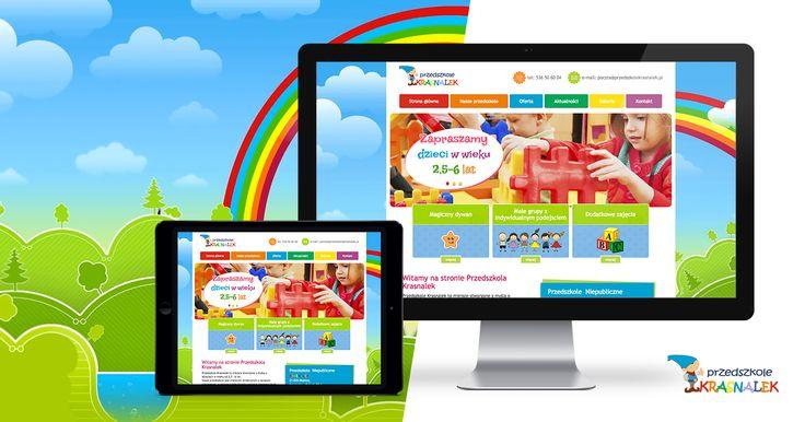 Przejrzysta i kolorowa strona WWW Przedszkola Krasnalek, to jeden z naszych ostatnich projektów 😁