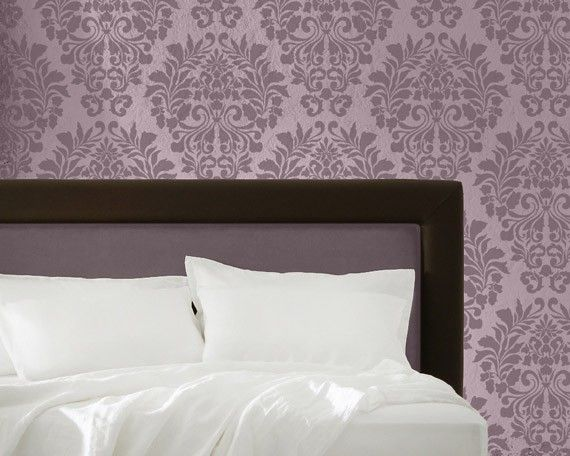 Allover Wall Stencil Fabric Damask for DIY  Painted Wallpaper Wall Decor. $42.00, via Etsy.smaller version of this one:http://www.etsy.com/listing/67421127/large-wall-stencil-fabric-damask-allover