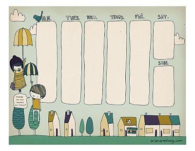 cute! free weekly printable - planner: Ideas, Arian Armstrong, Free Download, Weekly Planner, Free Printables, Planners