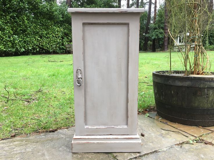 Hand Painted Shabby Chic Vintage Oak Small Cupboard by Maylouiseinteriors on Etsy