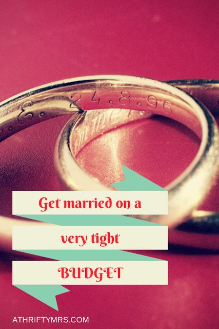 Get married on a very tight budget with these realistic and fun ideas. always good to know even if you're not on a tight budget....why spend a lot of money when you could just save it