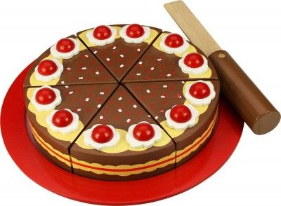 Bigjigs Toys Drevená krájacia čokoládová torta