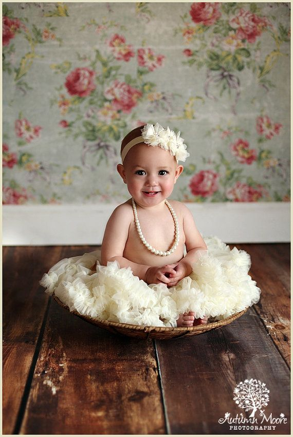 Baby Ruffle Pettiskirt - Girls Pettiskirt - Newborn Photo Prop - Baby Outfit - Girls Skirt - Flower Girl Outfit on Etsy, $26.00