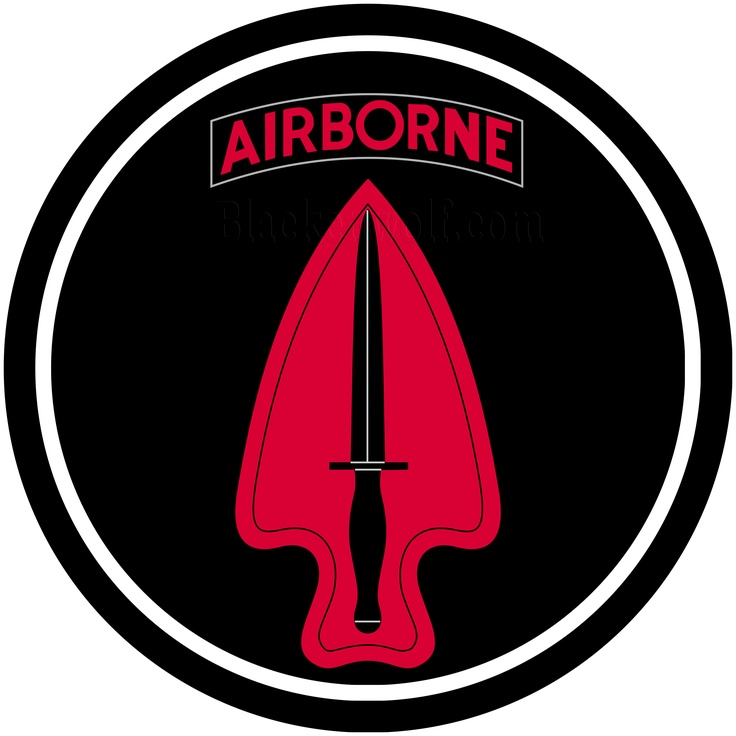 special forces airborne usasoc black red logo car door puddle light military series. Black Bedroom Furniture Sets. Home Design Ideas