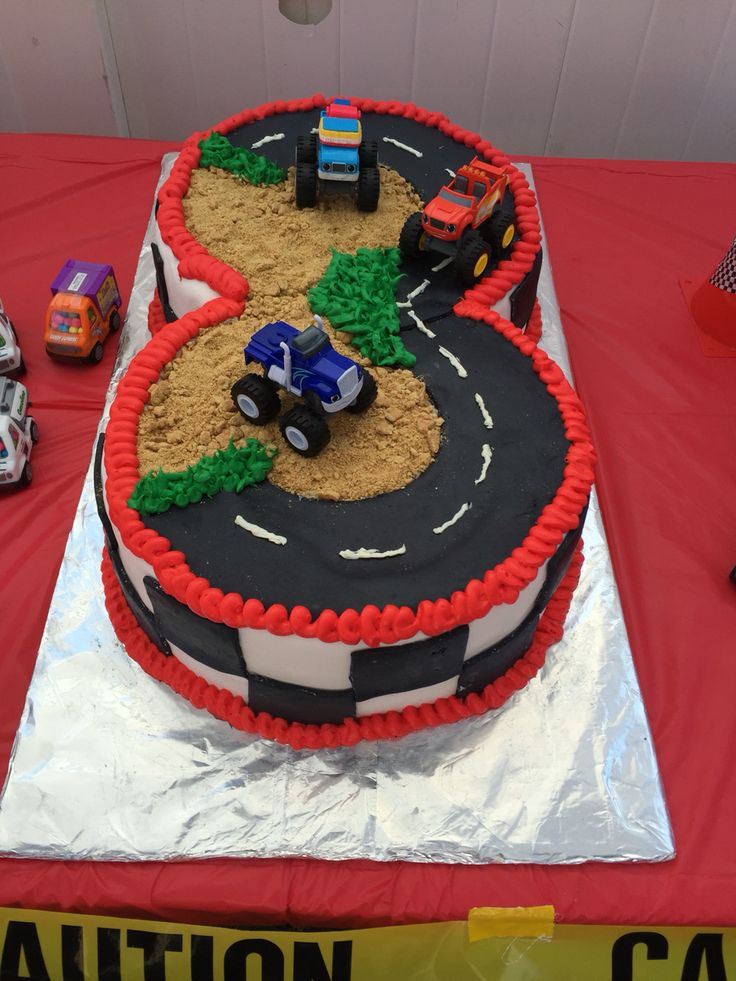 Blaze 3rd birthday cake