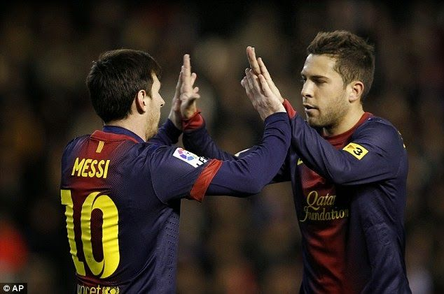 The Legend Lionel Messi: Jordi Alba: I cannot imagine Barca without Messi