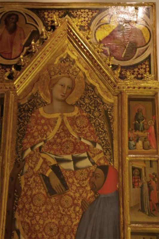 Кафедральный музей. Detail from St. Catherine of Alexandria by Giovanni del Biondo, with additions by Giovanni del Ponte.
