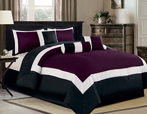 7 Piece Oversize Purple Black White Color Block Quot Milan