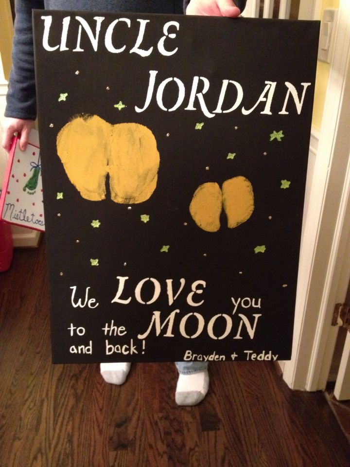 Funny Christmas present for uncle jordan from his nephews.