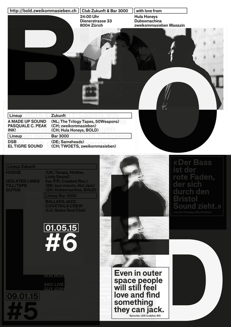 BOLD #6 — A2 Poster (white silkscreen print over the BOLD #5 Poster)