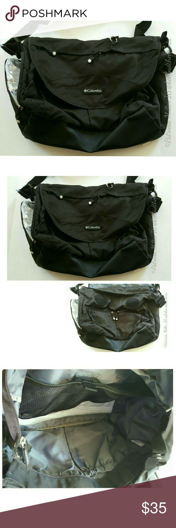 Black Columbia Diaper Or Book Bag Travel