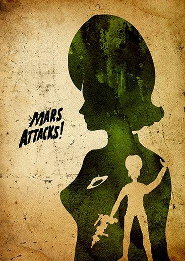 Tim Burton Mars Attacks Minimalist Poster by moonposter on Etsy
