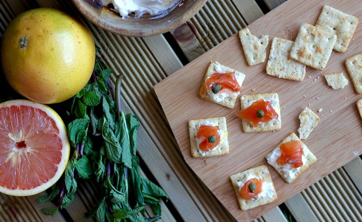 Lactose free Citrus and Mint Salmon Gravlax recipe with lemon whipped cream