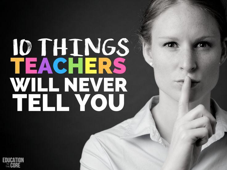 Teacher truths.