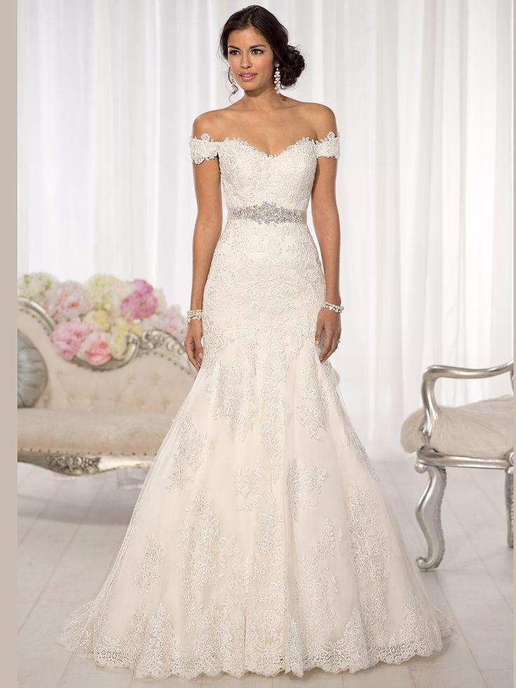 Essense Of Australia D1617 Lace Fit And Flare Bridal Dress DimitraDesigns.com