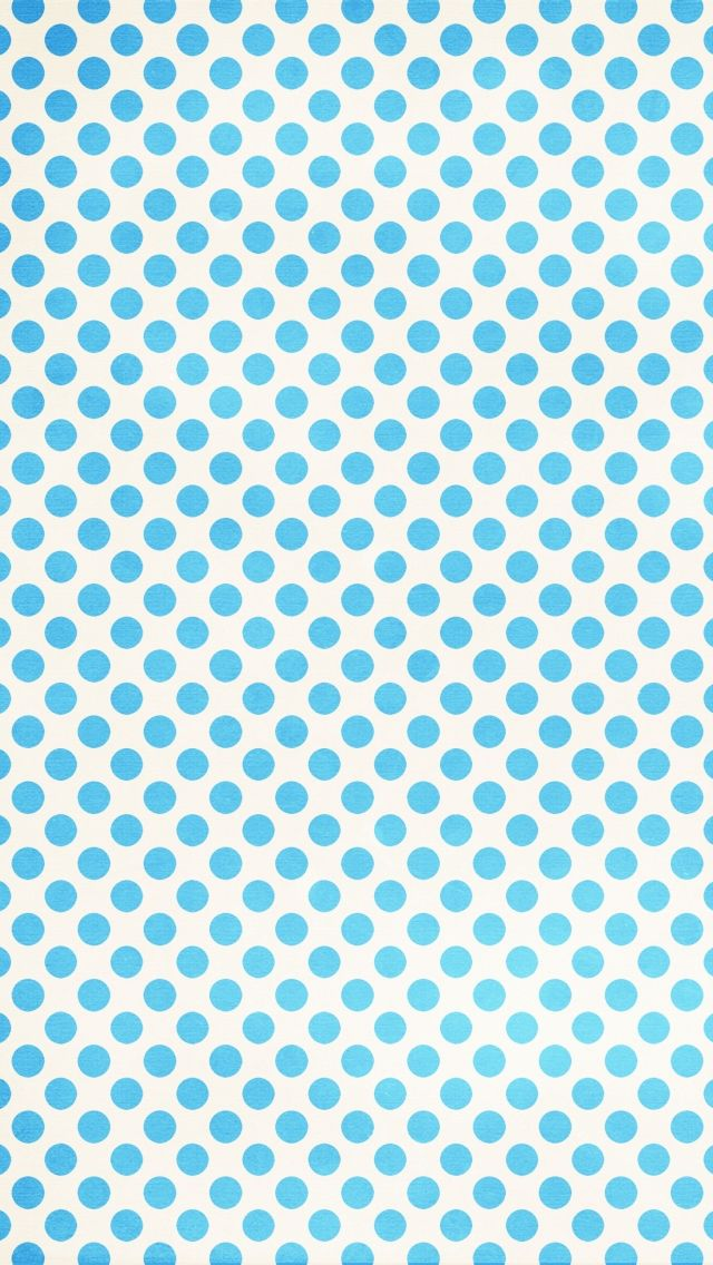 Blue Polka iPhone 5 Wallpapers 1