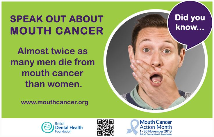 LIKE and SHARE to spread the word: Mouth Cancer Action Month Did you know? Almost twice as many men die from mouth cancer than women. #MCAM #MouthCancer #DidYouKnow #HowToGetInvolved http://www.mouthcancer.org/page/how-to-get-involved
