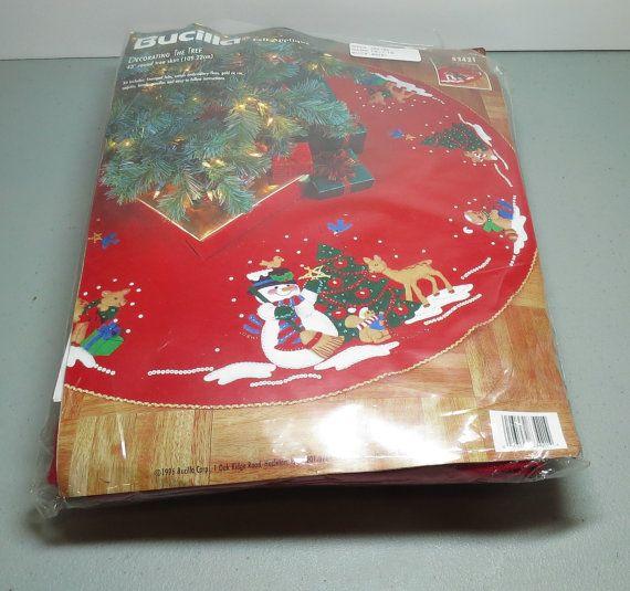 Bucilla Felt Applique Kit Christmas Tree Skirt Decorating