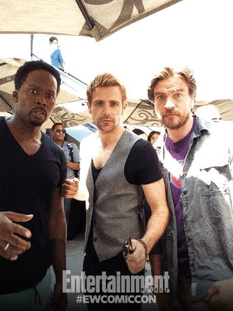 Harold Perrineau, Matt Ryan, and Charles Halford, Constantine.