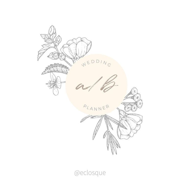 """Anastasia Panfilova (@eclosque) on Instagram: """"I've been into logo design lately! This one was created spontaneously while I was preparing some previews for my latest graphics flower set and imagining how those elements could be used by potential customers."""" Elegant logo design for female entrepreneurs and professionals (photographers, wedding planners, florists, etc). Follow the link to purchase the template! #affiliatelink"""