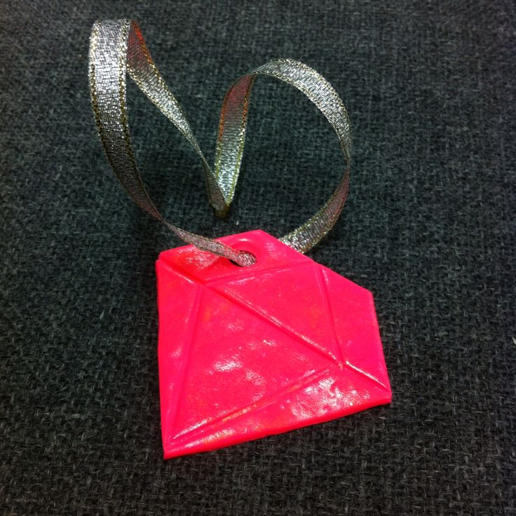 RHoBH inspired pink diamond ornament I made as a Christmas present with polymer clay