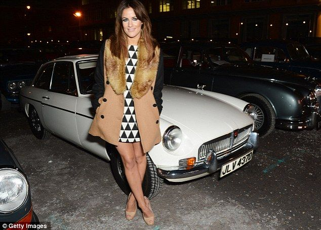 Caroline Flack in Miss Patina coat