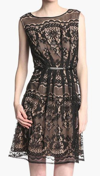 Romantic Lace Fit and Flare Dress