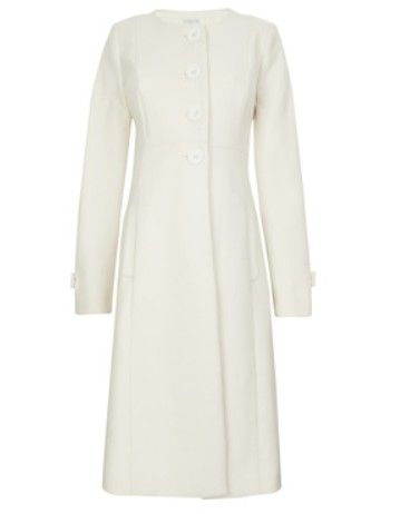 Jojo Maman Bebe Cream Princess Line Maternity Coat - worn by Kate Middleton on 3/11/15 on a visit to Downton Abbey.  $102.99