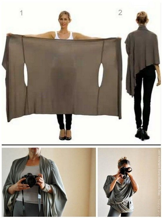 DIY Two Tutorials for the Bina Brianca Wrap. It can be worn as a scarf, cardigan, poncho, blouse, shrug, stole, turtleneck, shoulder scarf, back wrap, tunic and headscarf. And possibly a nursing cover!